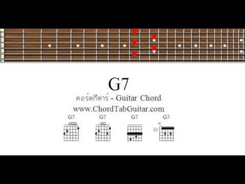 คอร์ด G7 - รูปแบบการจับแบบง่ายที่สุด - Chord G7 (Easy form) - YouTube