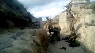 Armenian Soldiers Bombard Azerbaijani Positions