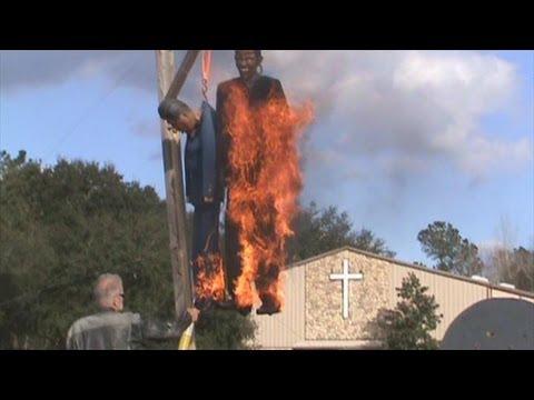 Nationwide Burning of Effigies and Images of President Hussein Obama