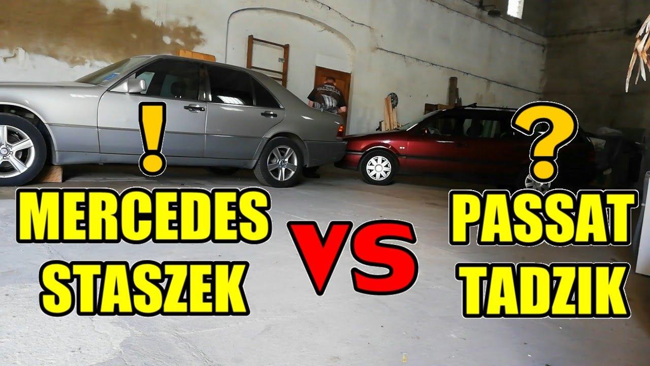"""Mercedes """"Staszek"""" VS Passat """"Tadzik"""", Staszek do domu, Co z Passatem Tadzikiem? Wyjaśnienie... :("""