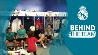 MARCELO's son ENZO shows off his skills in the Real Madrid dressing room