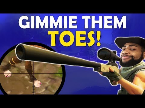 GIMMIE THEM TOES | DAEQUAN SNIPES ARE INSANE | HIGH KILL FUNNY GAME - (Fortnite Battle Royale)