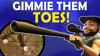 GIMMIE THEM TOES | DAEQUAN SNIPES ARE INSANE | HIGH KILL FUNNY GAME - (Fortnite Battle Royale) thumbnail