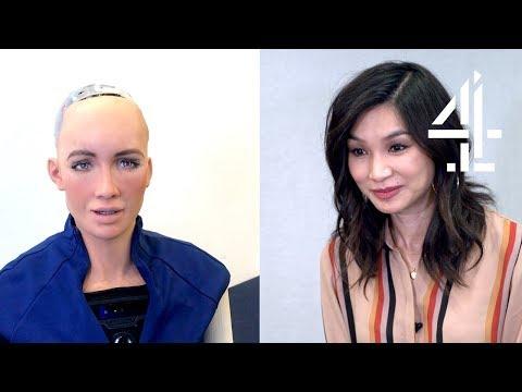 Humans Cast FaceTime Sophia The Robot