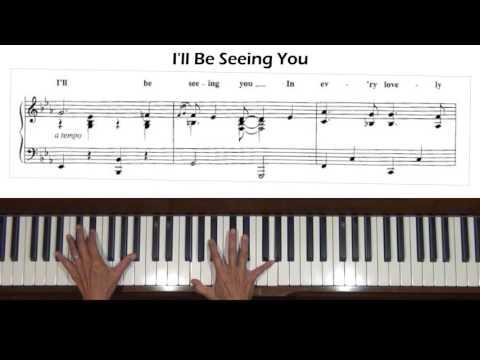 I'll be Seeing You Piano Tutorial at Tempo v.2