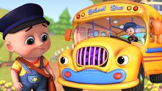 Wheels on the Bus with  Animals | School Song | kids cartoon -Jugnu Kids Nursery Rhymes & Kids Songs
