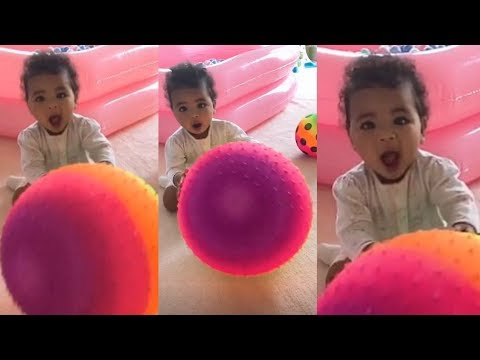 Khloe Kardashian spends quality time with daughter True playing her ball
