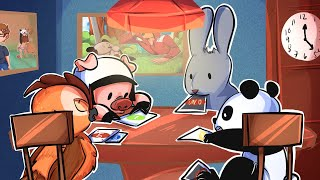 A Bunch of Animals Continue Playing Uno - UNO FUNNY MOMENTS