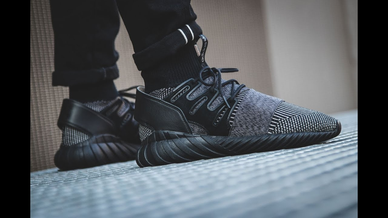 info for bc12e f3608 Unboxing Review sneakers Adidas Tubular Doom Primeknit BY3131