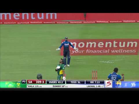 South Africa vs Sri Lanka - 5th ODI - JP Duminy Wicket