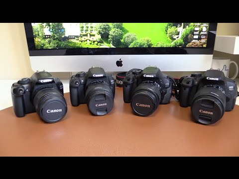 Canon 1100D, 1200D, 600D, 700D (T3, T5, T3i, T5i) | Comparativa