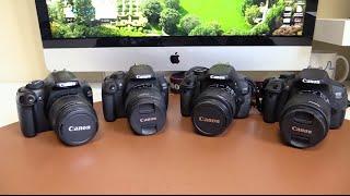 Canon 1100D, 1200D, 600D, 700D (T3, T5, T3i, T5i) | Comparativa(En este video os hago una comparativa entre los modelos Canon EOS 1100D, 1200D, 600D, 700D (también llamadas Rebel T3, T5, T3i, T5i / Kiss x50, x70, x5, ..., 2015-08-17T18:32:31.000Z)