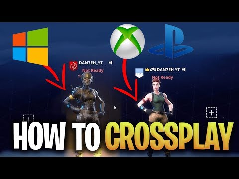 How To CROSSPLAY Fortnite With XBOX ONE, PC And PS4?! (EASY STEP BY STEP CROSS PLATFORM TUTORIAL)
