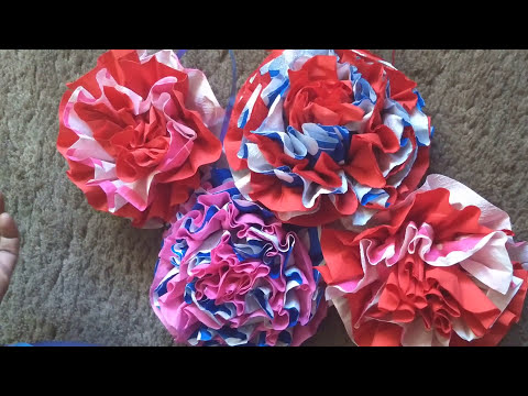 Decorative Flowers with paper Napkins