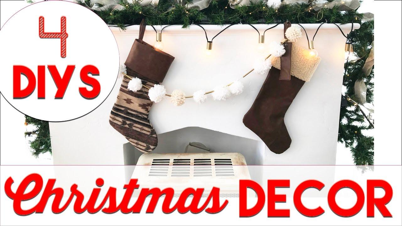 4 Easy Christmas Decor Diys Small Apartment Christmas Decorating 2016 Youtube