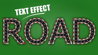 How to Create a Road Text Effect - Inkscape Tutorial