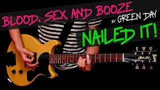 Blood, Sex and Booze - Green Day guitar cover by GV +chords