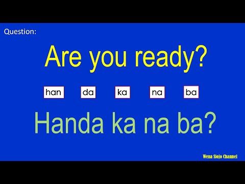 English Tagalog Most Common Questions And Answers 138 (To Improve Your Vocabulary)