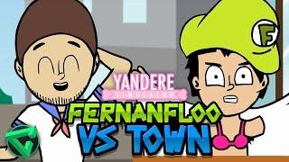 FERNANFLOO VS ITOWNGAMEPLAY - ANIMACIÓN YANDERE SIMULATOR (Animation)