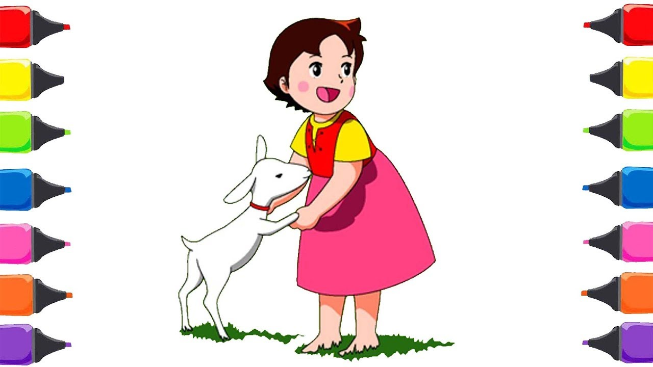 Heidi çizgi Filmi Boyama Renkleri öğreniyorum çocuk şarkıları Youtube