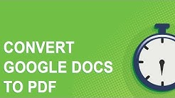 Convert Google Docs to PDF Tutorial