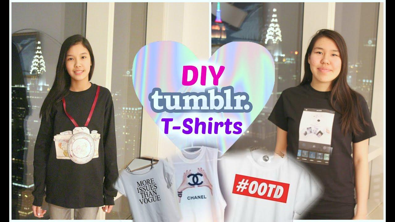 DIY Tumblr Shirts for Summer - YouTube