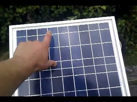 Faulty Solar Panel Pv Cells Reversed Youtube