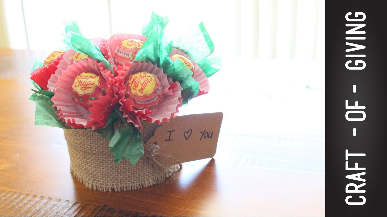 Super Easy and Quick DIY Lollipop flower Pot | Craft of Giving - YouTube