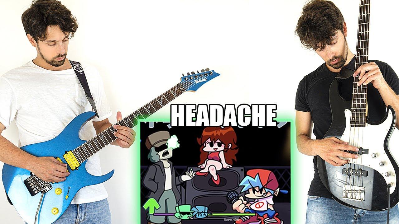 Friday Night Funkin' Garcello mod but it's guitar VS bass - Headache