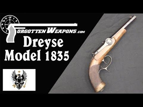 Dreyse Model 1835 Needlefire Breechloading Pistol