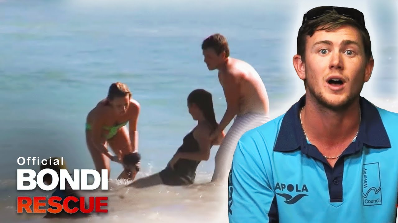 A Drunk Woman On The Beach Makes Trouble For Bondi Lifeguards Youtube
