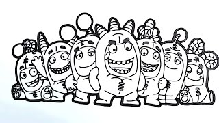 Coloring Sheets Oddbods