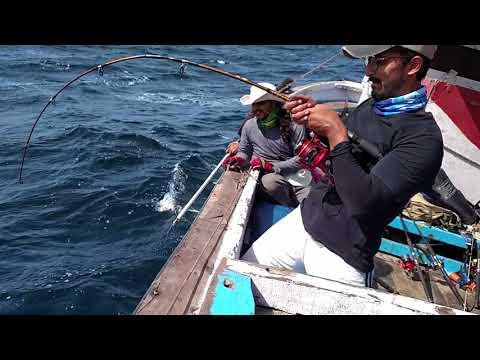 Jigging Pakistan @Karamat : AJ (AmberJack) light tackle. Awesome Game Fishing