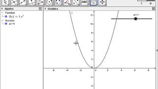 Basic Introduction into using a Slider in GeoGebra