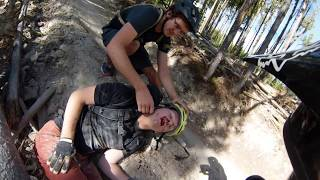 Mountain Bike Crash at Big Sky