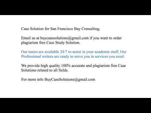 san francisco bay consulting case solution