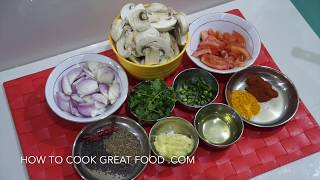 Indian Dry Mushroom Fry Recipe - Vegan