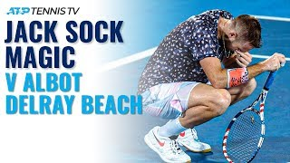 Jack Sock Brilliance in Emotional Victory vs Albot | Delray Beach 2020 Highlights