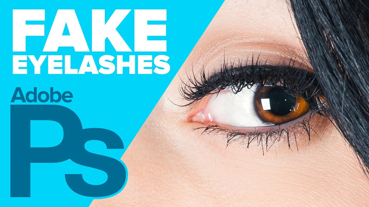 how to put eye lash on in photoshop