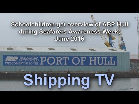 Seafarer's Awareness Week 2016 - schoolchildren's tour of ABP port of Hull