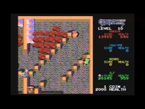001 MD「ガントレット」をやってみた♪ 駄菓子屋ゲーム実況 - YouTube