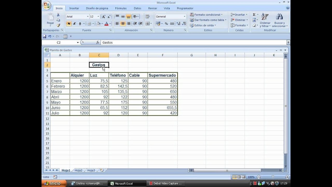 Como hacer bordes y tramas en Excel 2007 - YouTube
