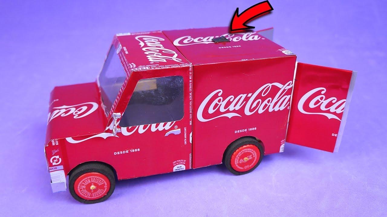 Increíble Mini Van Hecho Con Motor Dc Y Latas De Coca Cola Youtube