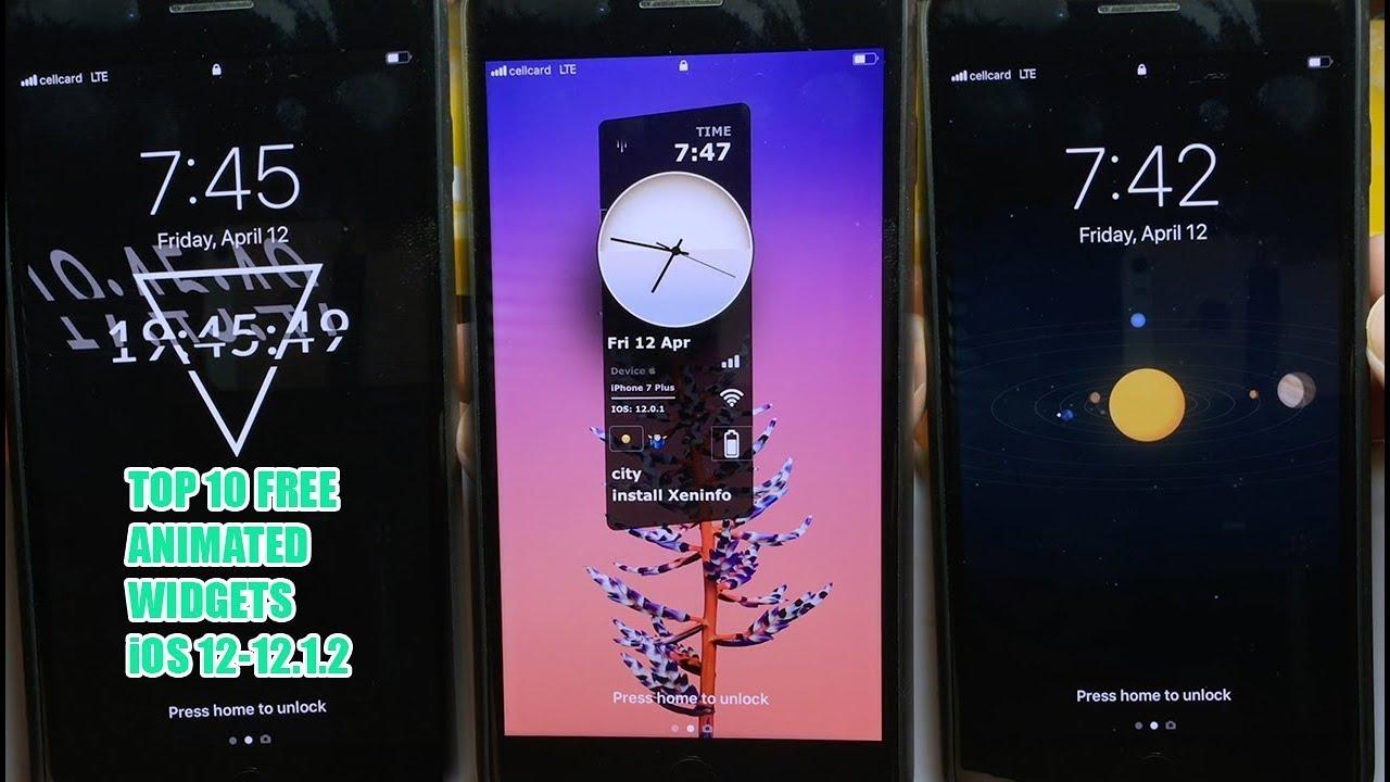 Top 10 FREE ANIMATED LOCKSCREEN Widgets For iOS 12-12 1 2 (XenHTML Widgets)