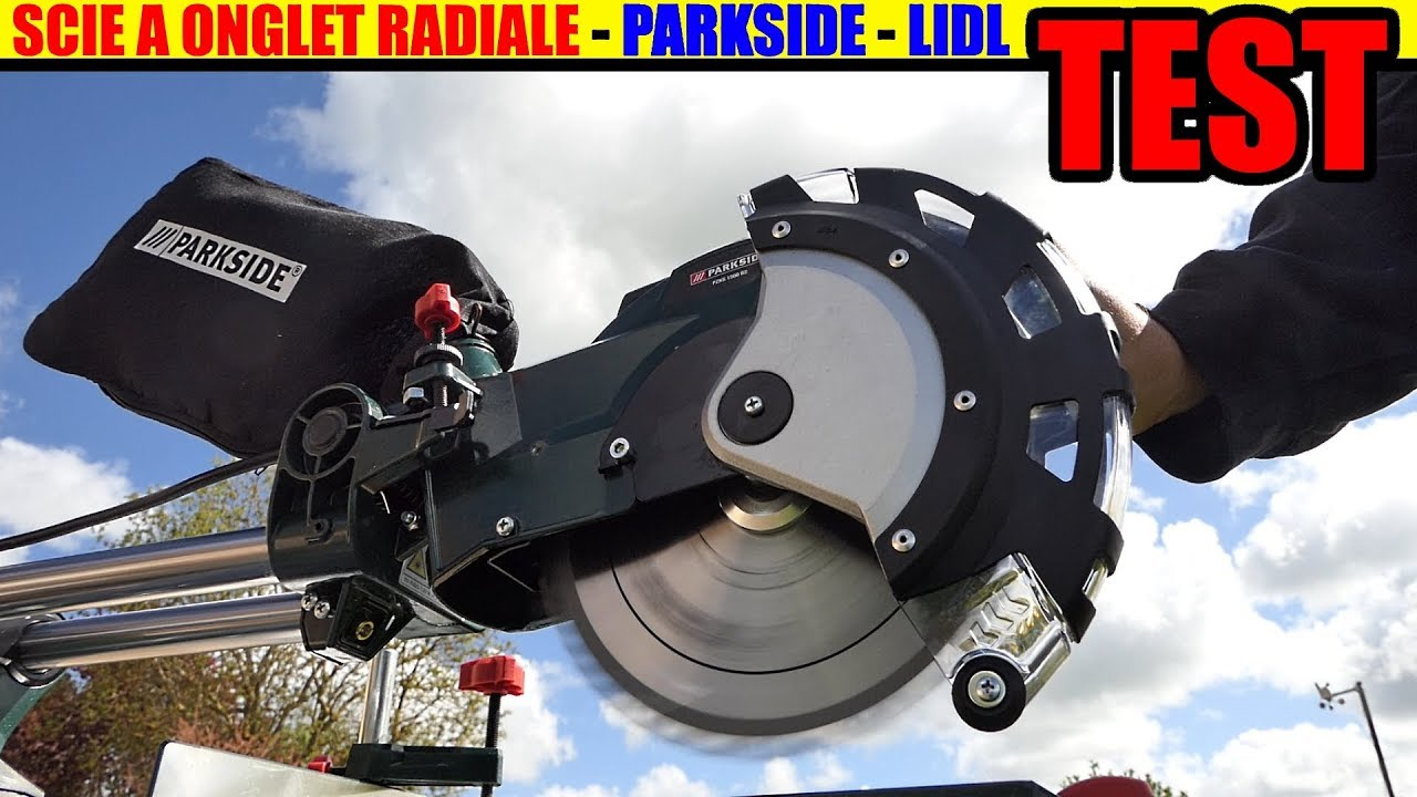 Lidl Scie à Onglet Radiale Parkside Pzks 1500 Test Sliding Cross Cut Mitre Saw