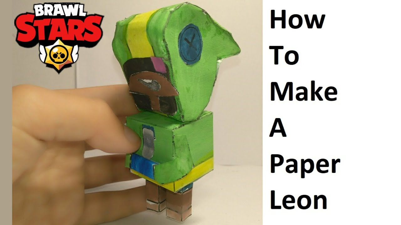 How to make a paper Leon ( Brawl Stars ) Papercraft toy. Easy to make. Papercraft Brawl Stars