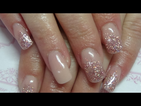 chit chat nude acrylic nails