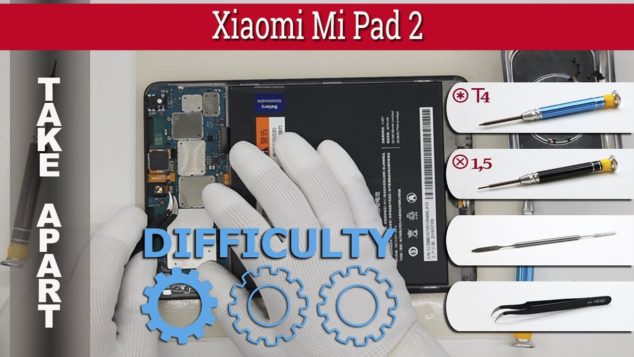 Xiaomi Mi Pad 2 Disassembly Videos - Waoweo