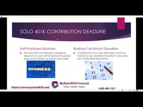 solo 401k contribution limits and types