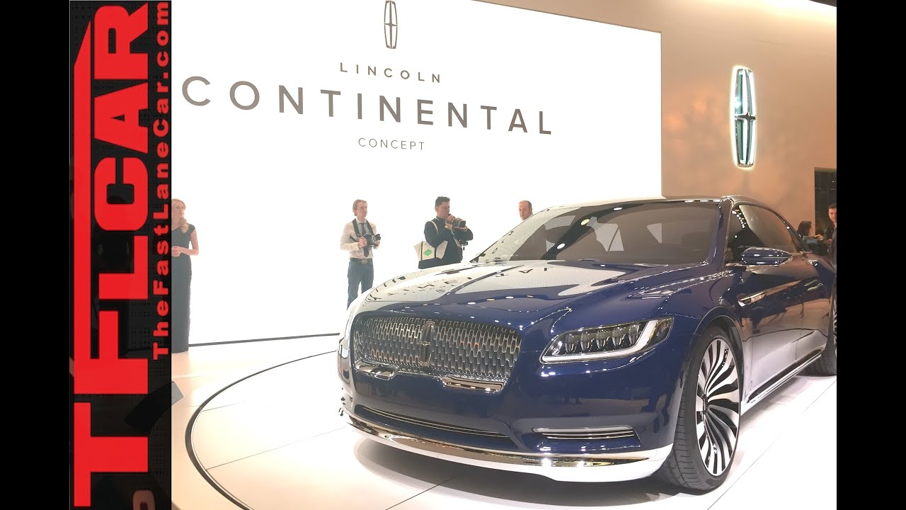 lincoln continental concept 2015 new york auto show one. Black Bedroom Furniture Sets. Home Design Ideas